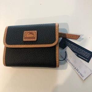 NWT Pebble Leather Small Flap Wallet